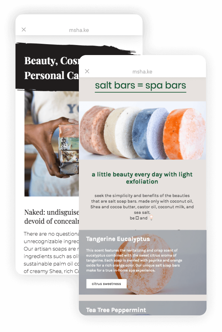 Milkshake Android App - Naked Bar Soap Co.