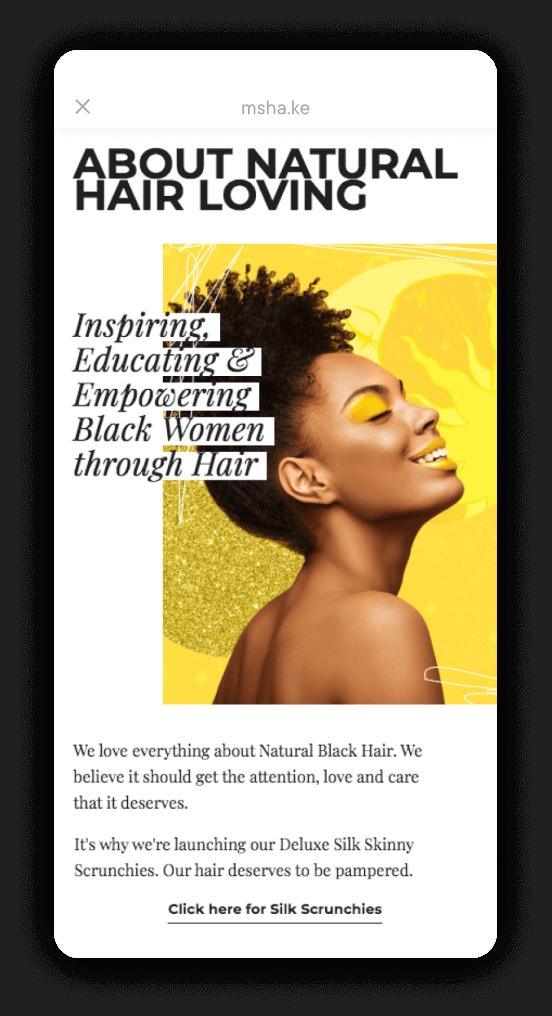 Milkshake Android App - Natural Hair Loving