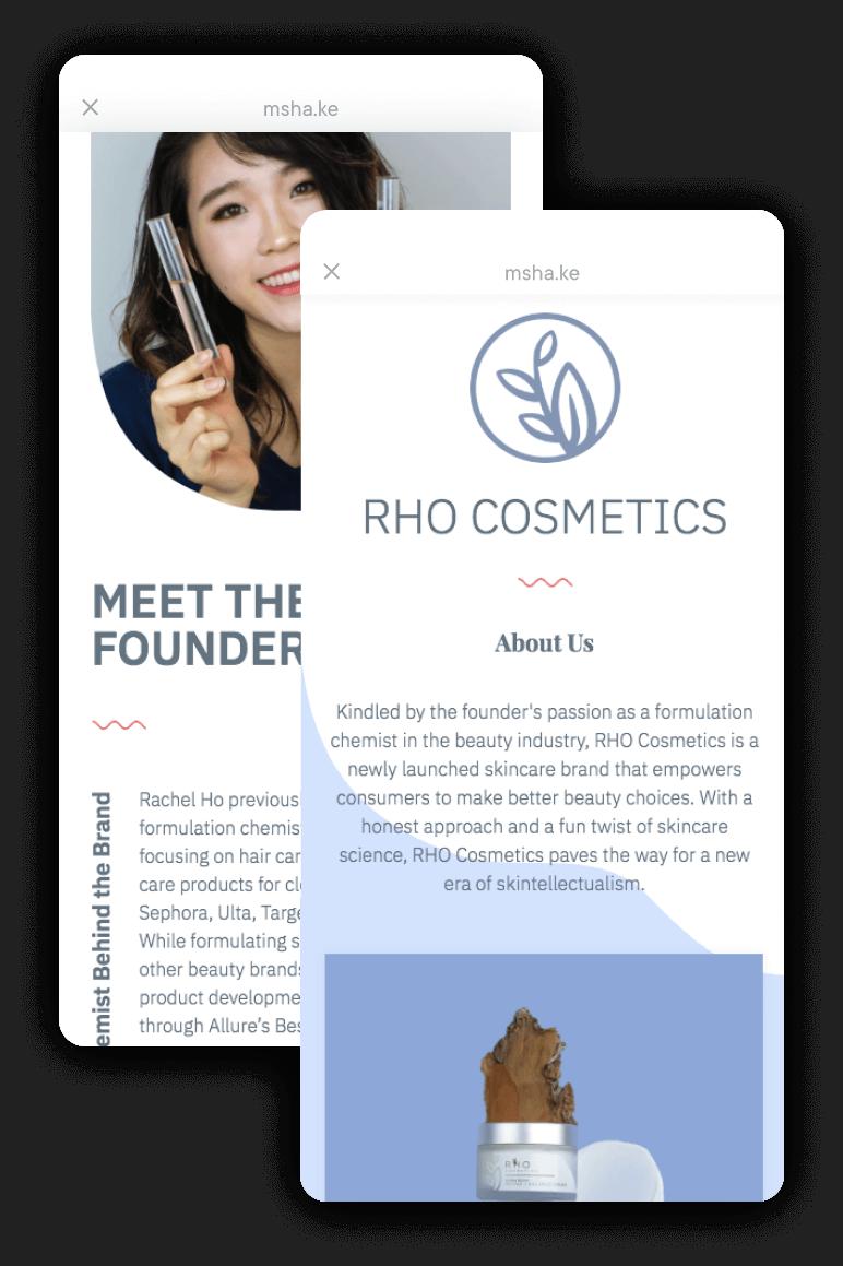 Milkshake Android App - Rho Cosmetics