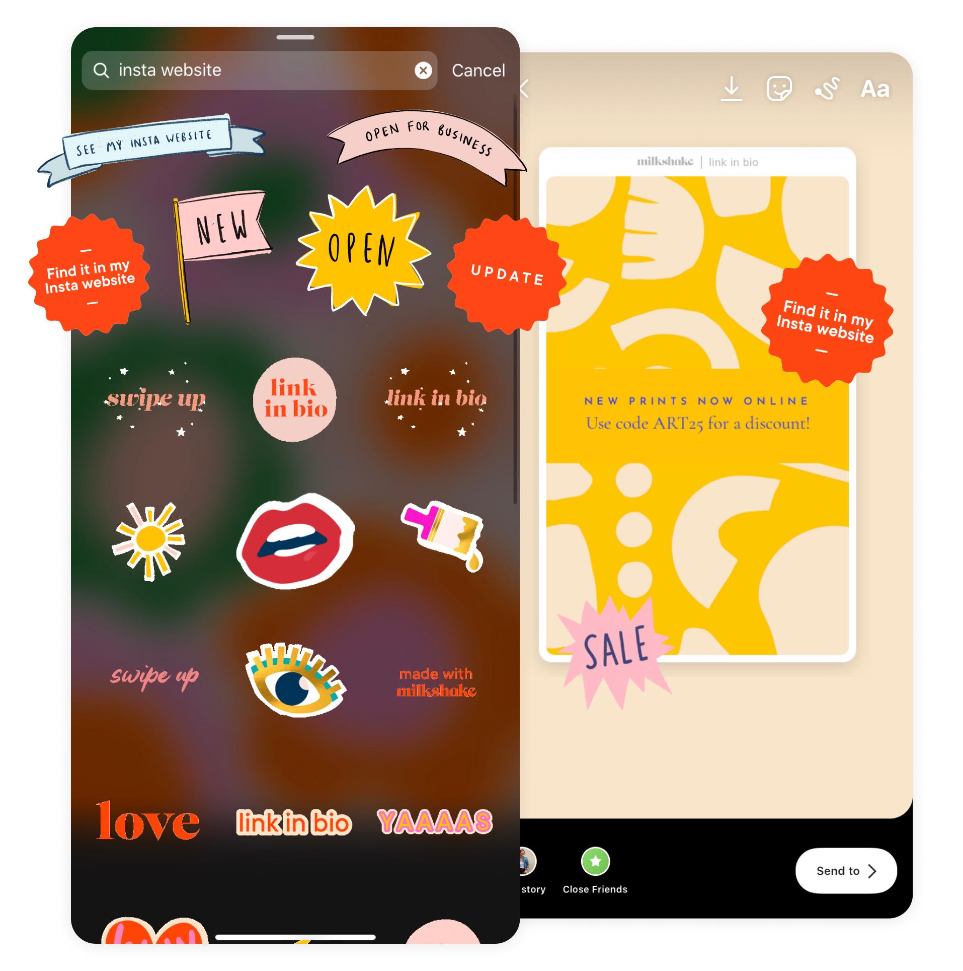6 new Instagram Story stickers!